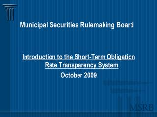 Municipal Securities Rulemaking Board