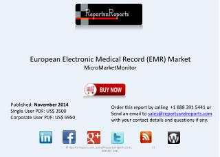 European Electronic Medical Record Industry - Growth, Trends