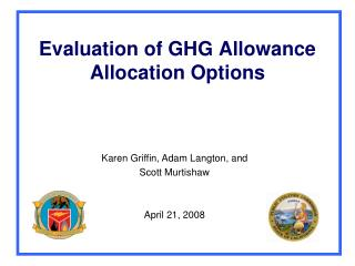 Evaluation of GHG Allowance Allocation Options