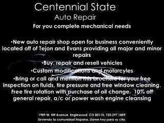 Centennial State Auto Repair
