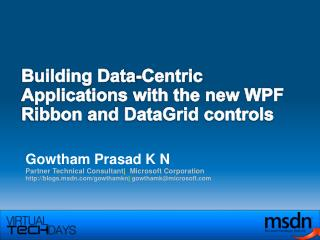 Building Data-Centric Applications with the new WPF Ribbon and DataGrid controls