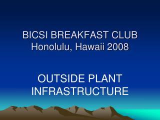BICSI BREAKFAST CLUB Honolulu, Hawaii 2008