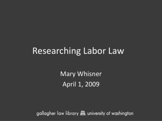 Researching Labor Law