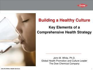 Building a Healthy Culture Key Elements of a Comprehensive Health Strategy