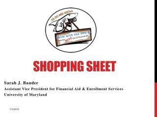 Shopping  Sheet