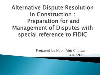 Prepared by  Nabil  Abu  Ghattas 4/8/2009