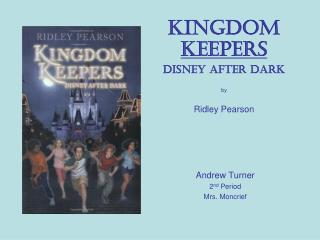 Kingdom  Keepers Disney After Dark by Ridley Pearson