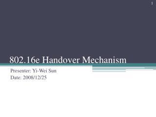 802.16e Handover Mechanism