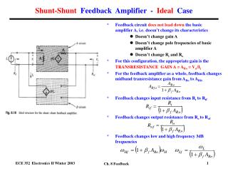 Shunt-Shunt   Feedback  Amplifier  -   Ideal   Case