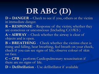 DR ABC (D)