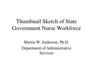 Thumbnail Sketch of State Government Nurse Workforce