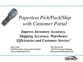 Paperless Pick/Pack/Ship with Customer Portal