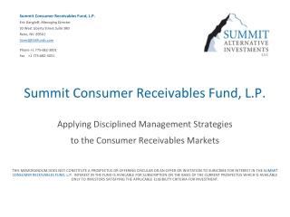 Credit and Receivables Risk Management