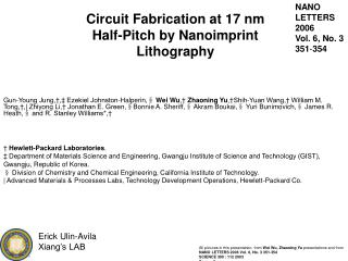 Circuit Fabrication at 17 nm  Half-Pitch by Nanoimprint Lithography