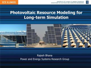 Photovoltaic Resource Modeling for Long-term Simulation