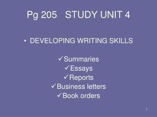 Pg 205   STUDY UNIT 4