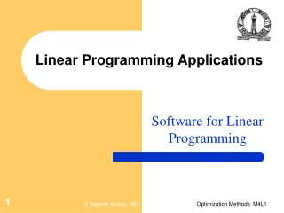 Linear Programming Applications