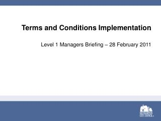 Terms and Conditions Implementation