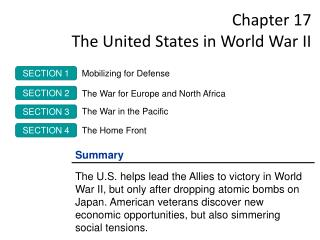 Chapter 17  The United States in World War II