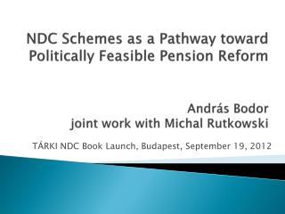 T ÁRKI  NDC  Book  Launch, Budapest, September 19 , 20 12