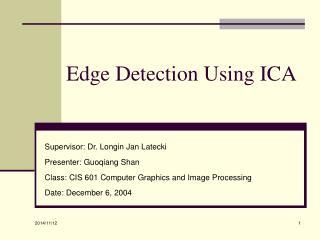 Edge Detection Using ICA