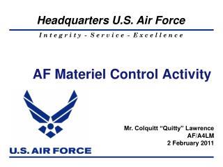 AF Materiel Control Activity