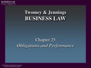Twomey & Jennings BUSINESS LAW