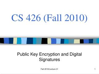 CS 426 (Fall 2010)