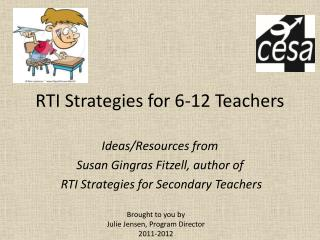 RTI Strategies for 6-12 Teachers