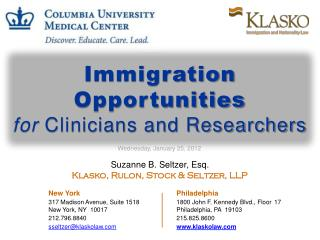 Suzanne B. Seltzer, Esq.  Klasko, Rulon, Stock & Seltzer, LLP New York Philadelphia