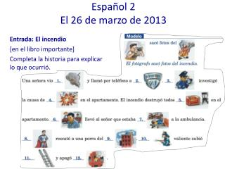 Español 2 El 26 de marzo de 2013