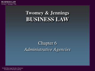 Twomey & Jennings BUSINESS LAW