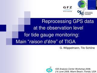 Reprocessing GPS data