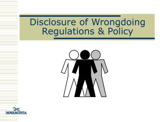 Disclosure of Wrongdoing Regulations & Policy