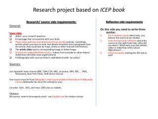 Research project based on  ICEP book