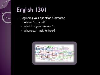 English 1301