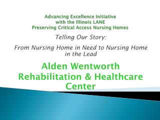Advancing Excellence Initiative with the Illinois LANE Preserving Critical Access Nursing Homes