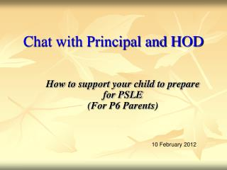 Chat with Principal and HOD