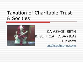 Taxation of Charitable Trust & Socities