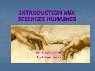 INTRODUCTION AUX SCIENCES HUMAINES