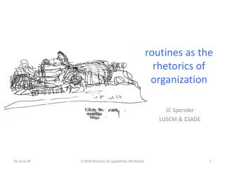 routines as the rhetorics of organization