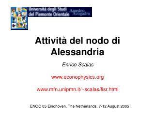 Attività del nodo di Alessandria