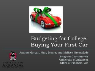 Budgeting for College: Buying Your First Car