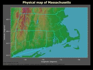 Physical map of Massachusetts