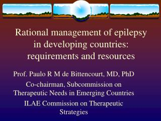Rational management of epilepsy in developing countries ...