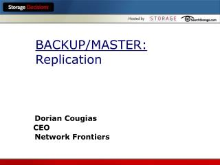 BACKUP/MASTER: Replication