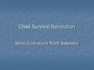 Child Survival Revolution