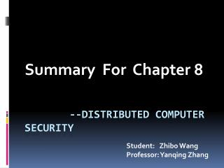--Distributed computer security