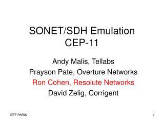 SONET/SDH Emulation CEP-11
