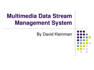 Multimedia Data Stream Management System